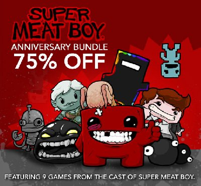 Новый супер пак Super Meatboy Anniversary Pack